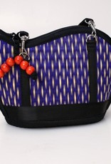 Mini Kiri Wave Basket Purse Blue Speckled
