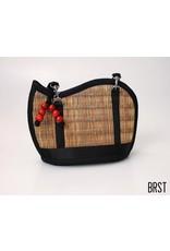 Mini Kiri Wave Basket Purse Brown Striated