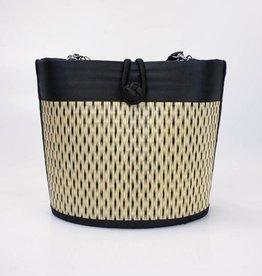Petite Curved Avi Basket Bag Black Speckled