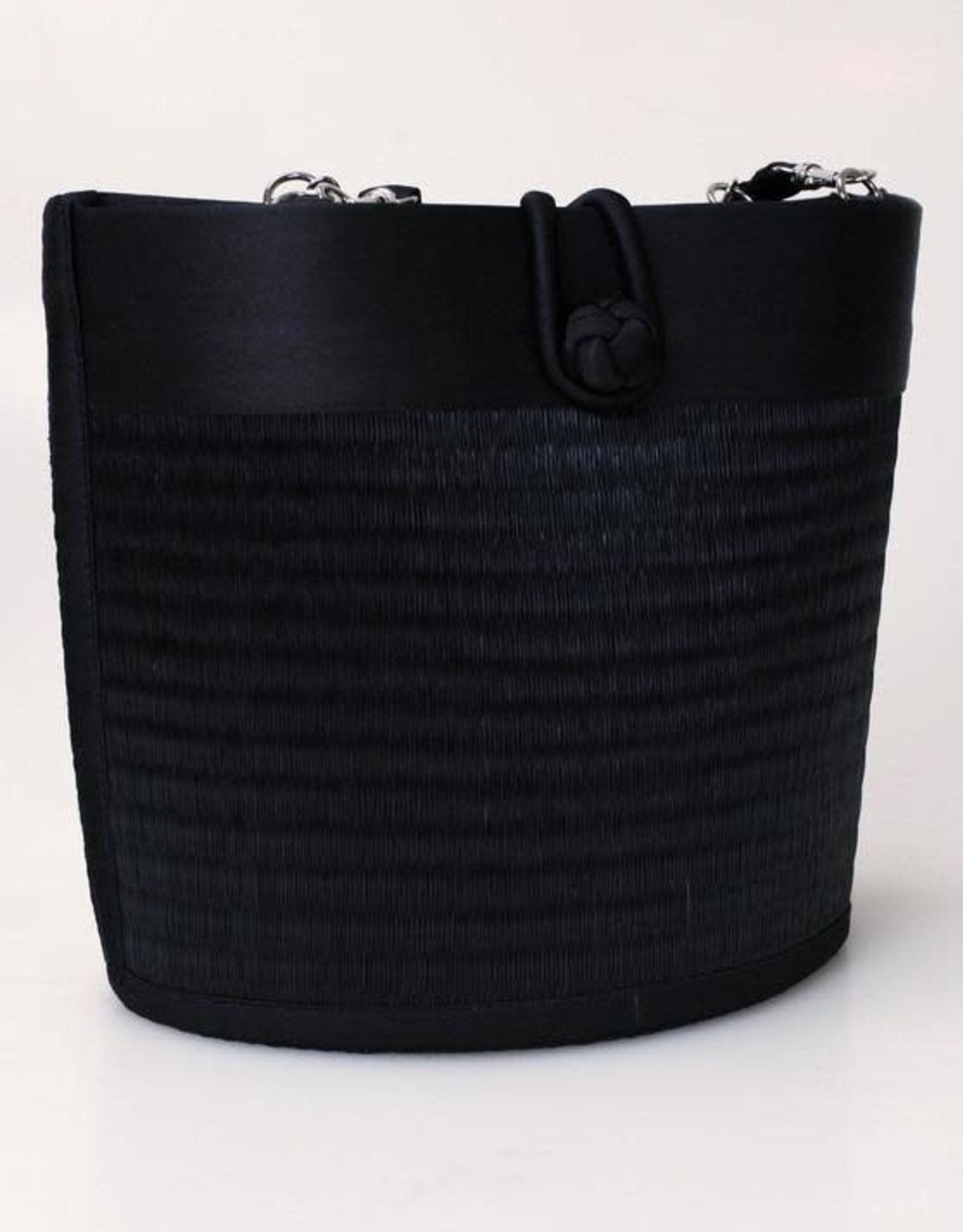 Petite Curved Avi Basket Bag, Solid Black
