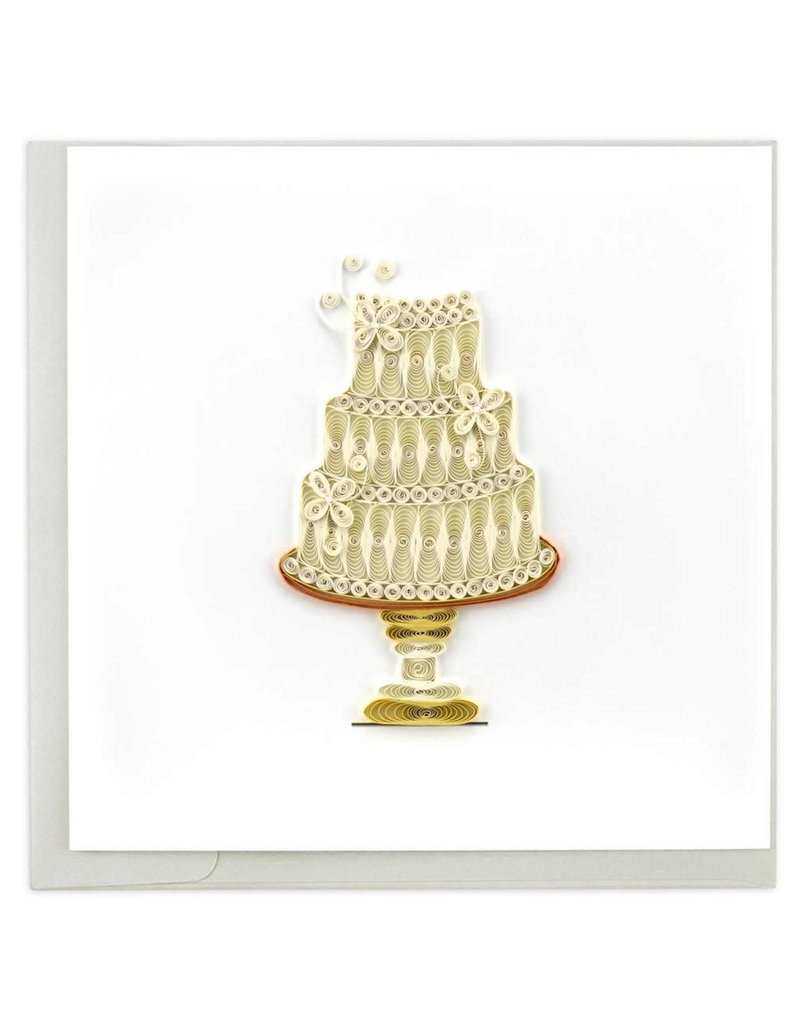 Wedding Cake Quilling Card, Vietnam