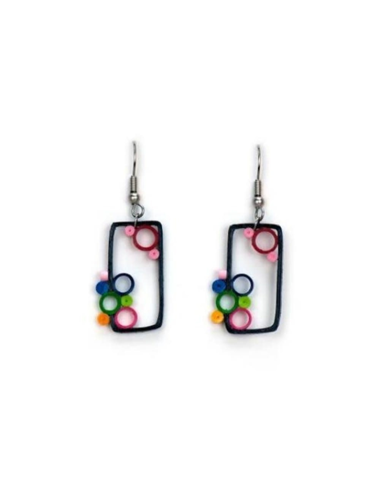 Out of the Box Brights Quilled Earrings, Vietnam