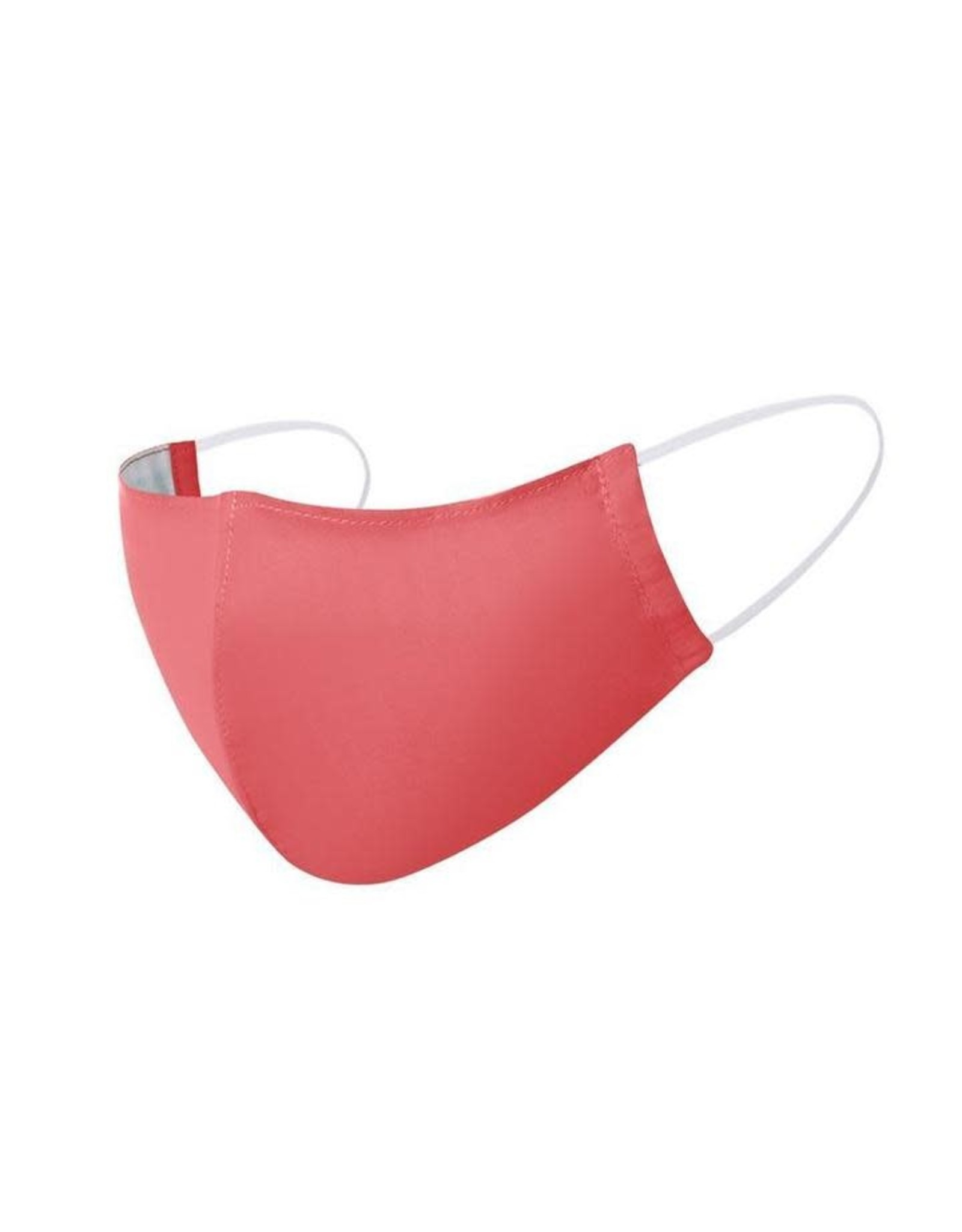 3 layer Cotton Mask, Adult, w/ Pocket CORAL