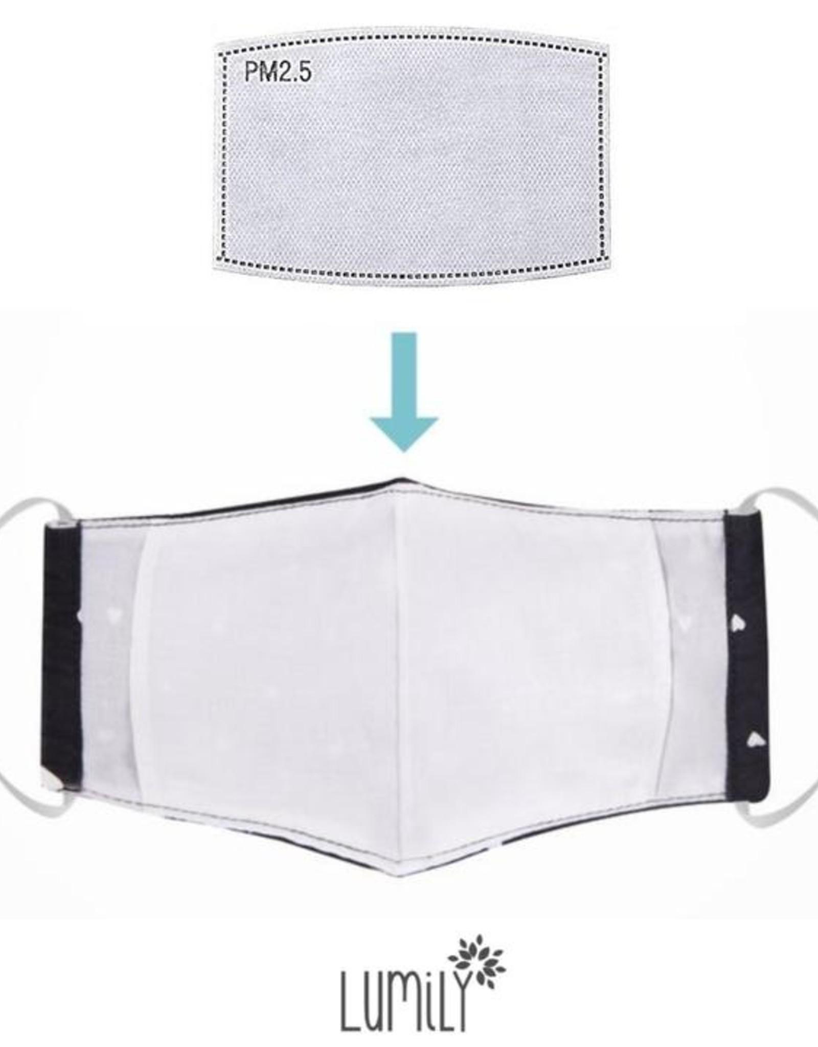Adult 3-layer cotton/muslin mask, w/ Pocket BLUE