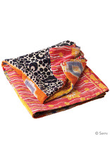 Kantha Rainbow Patchwork Square Throw