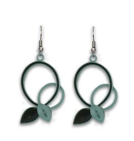 Sage Intertwined  Vines Quilled Earrings, Vietnam
