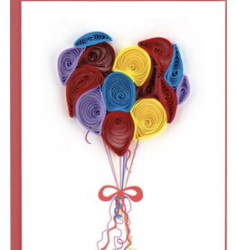 Balloon Heart, Quill Gift Enclosure Card, Vietnam
