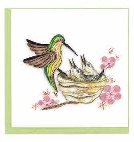 Hummingbird & Babies Quilling Card, Vietnam