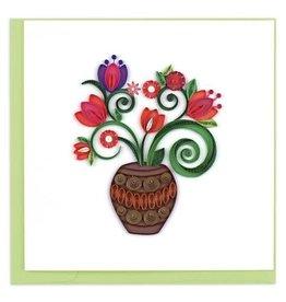 Terracotta Bouquet Quilling Card, Vietnam