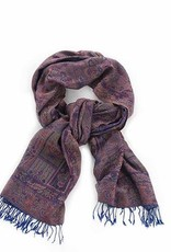 Kashmiri Shawl, Purple Paisley