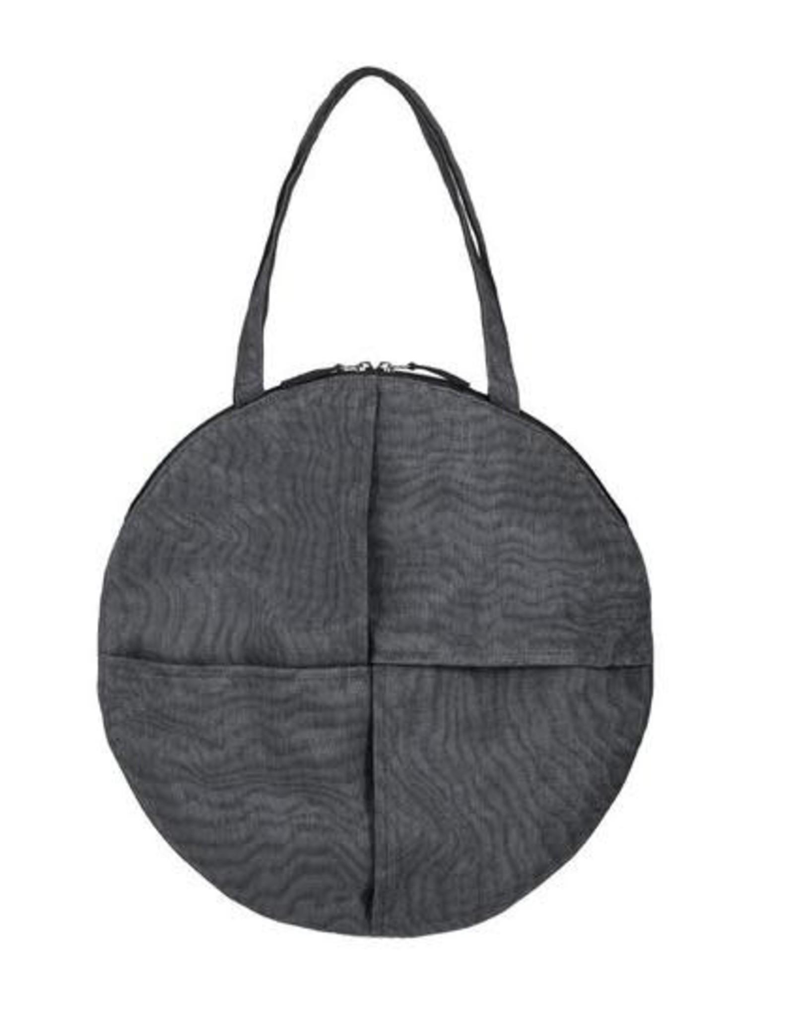 Cambodia, Chanlina CIRCLE Shoulder Bag Charcoal