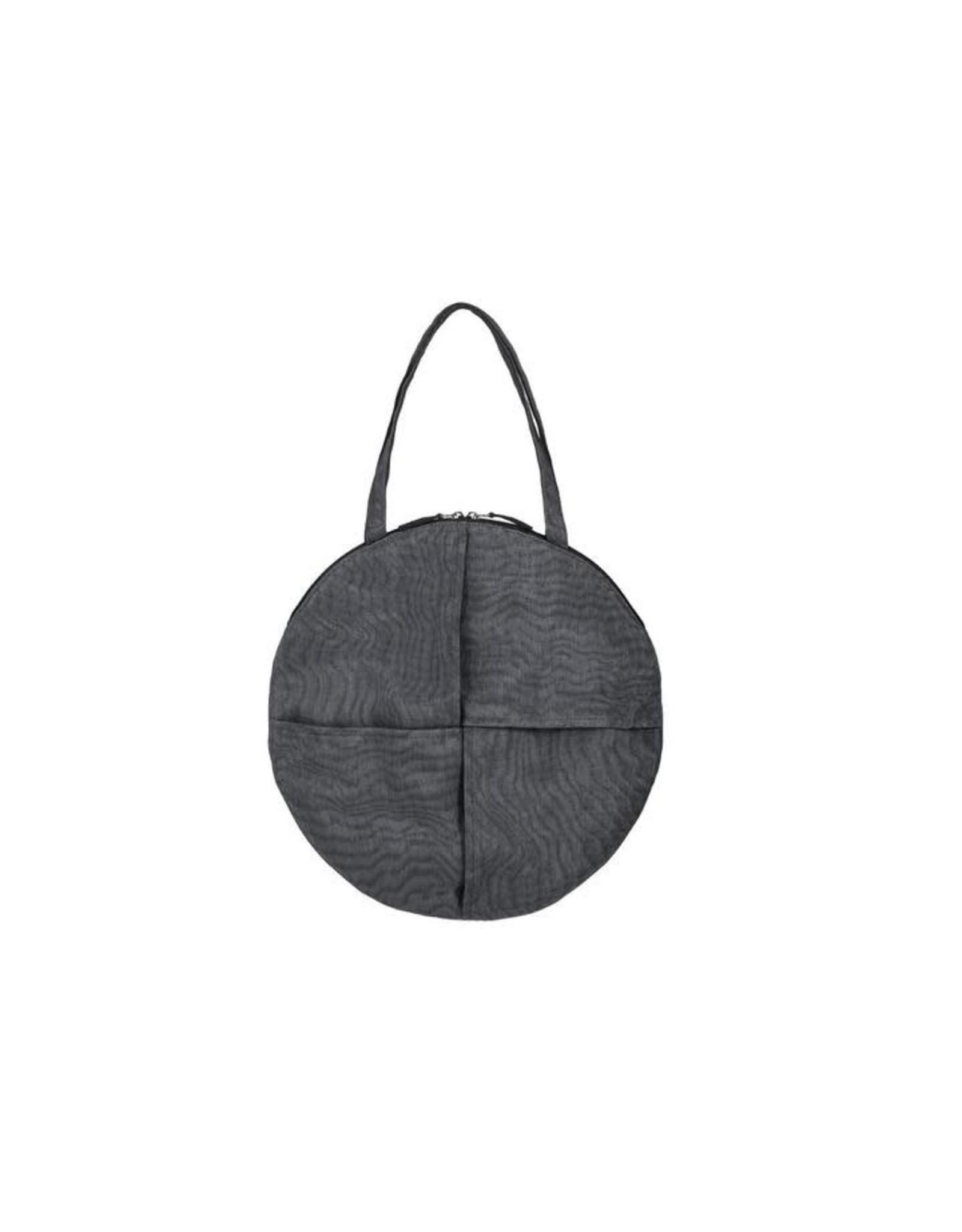 Chanlina CIRCLE Shoulder Bag, Charcoal, Cambodia