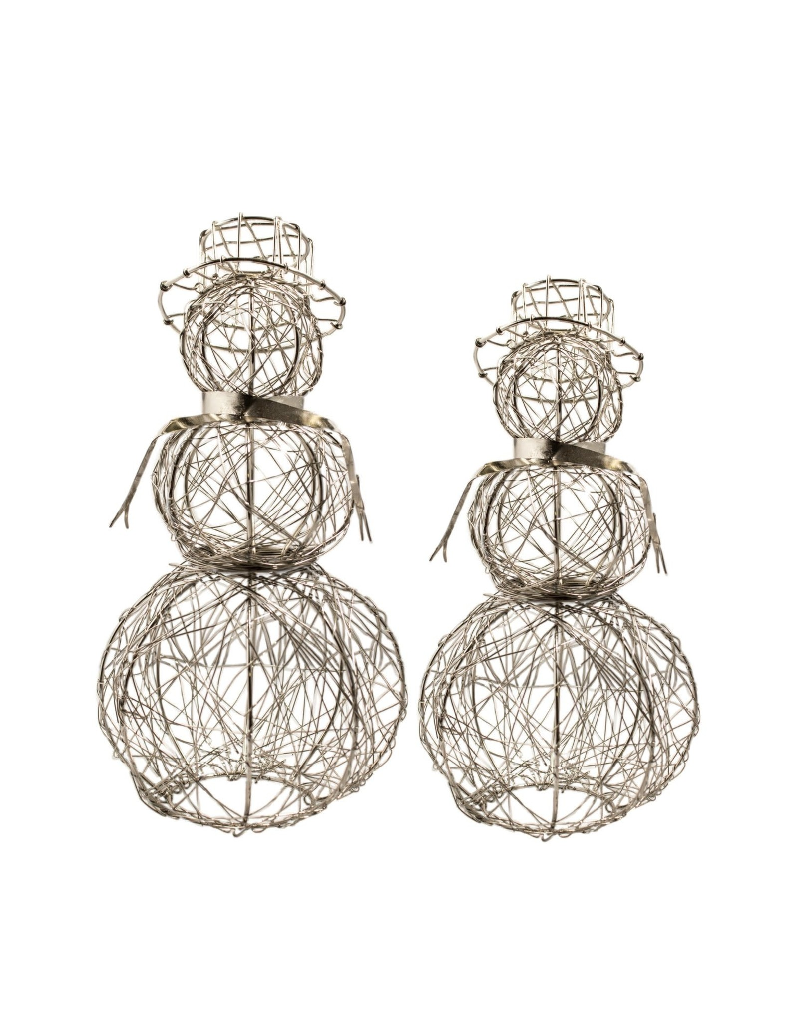 Wire Wrapped Snowman, Large, India
