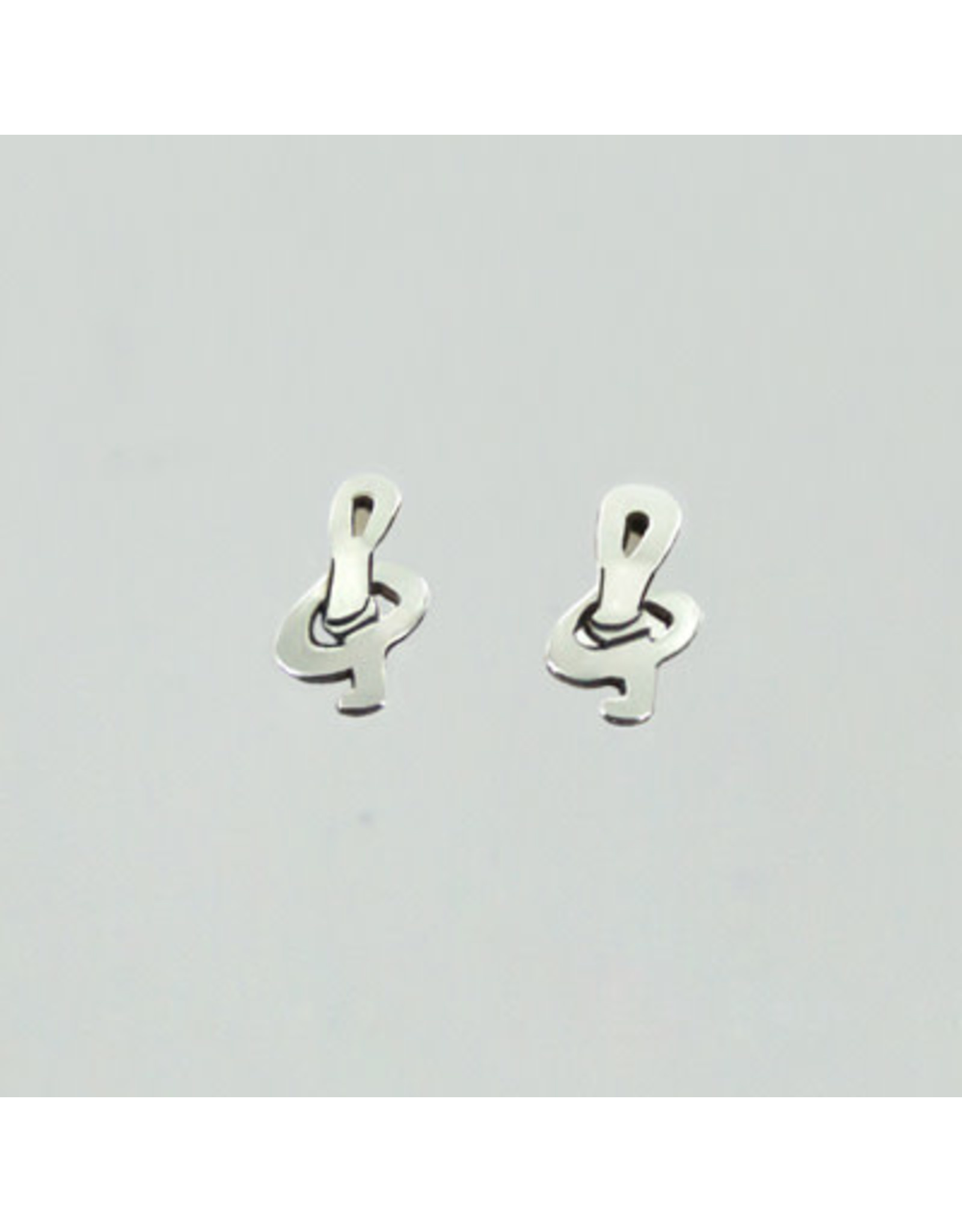 Treble Clef Post Earrings, Mexico
