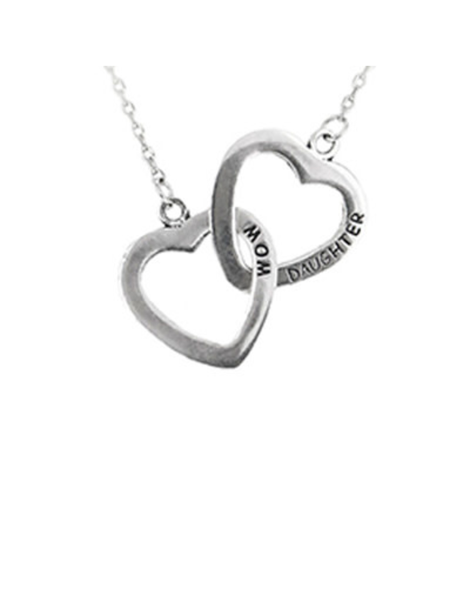 Pendant Necklace Mom and Daughter Linked Forever