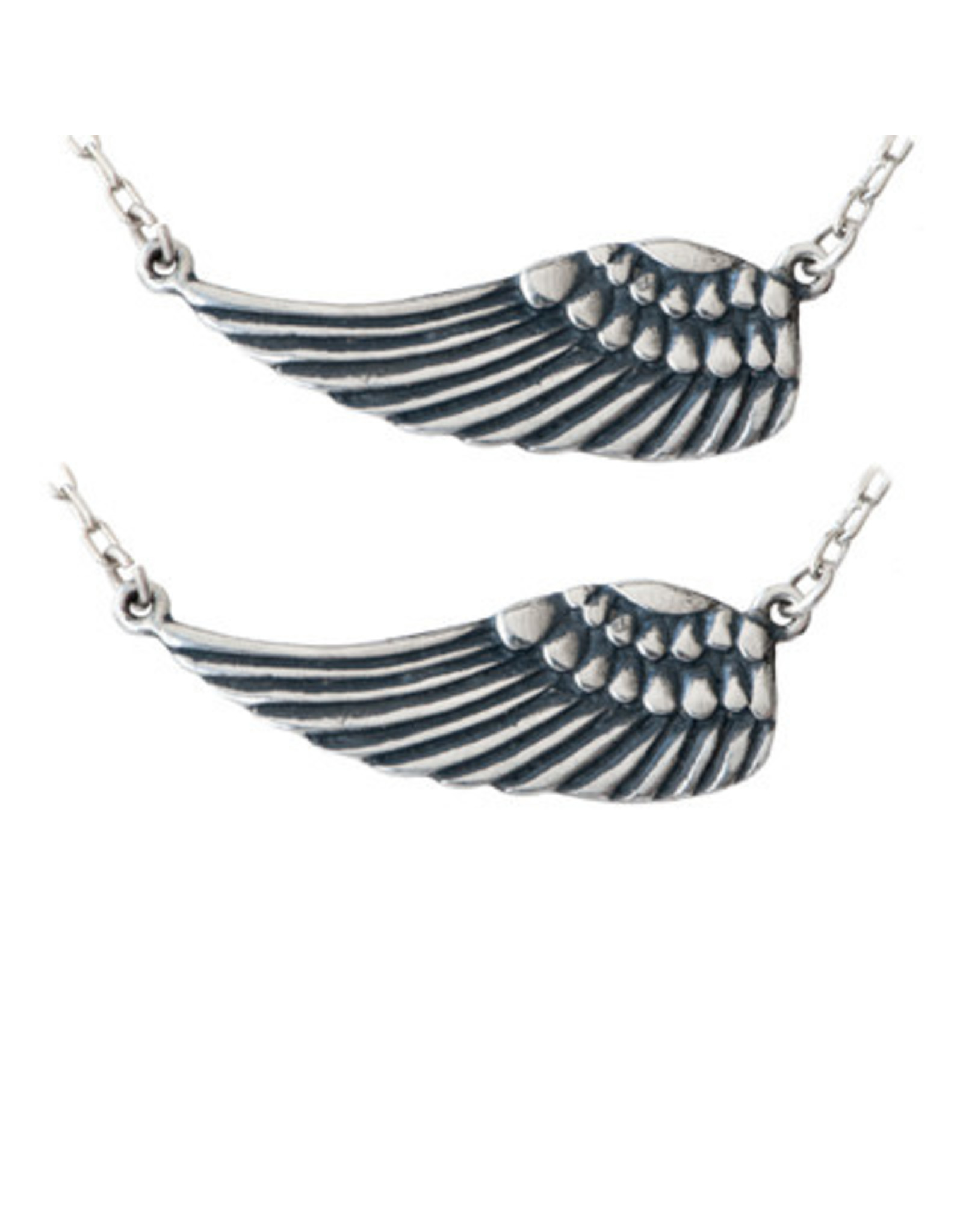 Set of Two,  Sister Angel Wings Pendant Necklace, Thailand