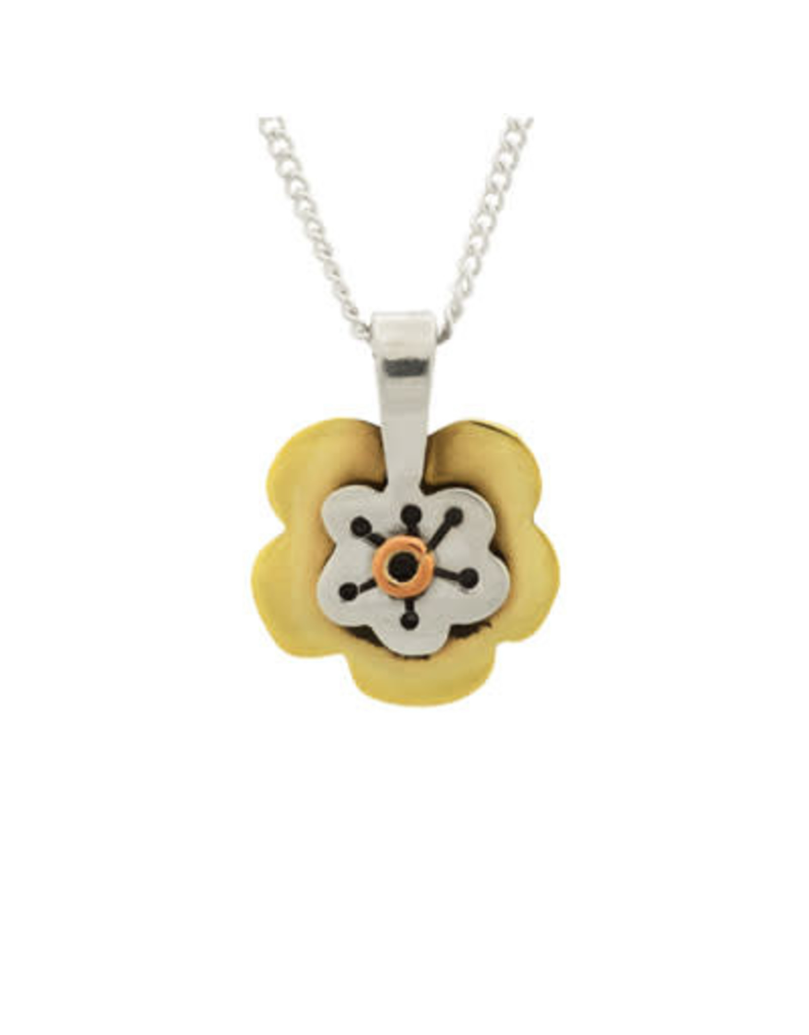 Flower Sterling Necklace, Mexico