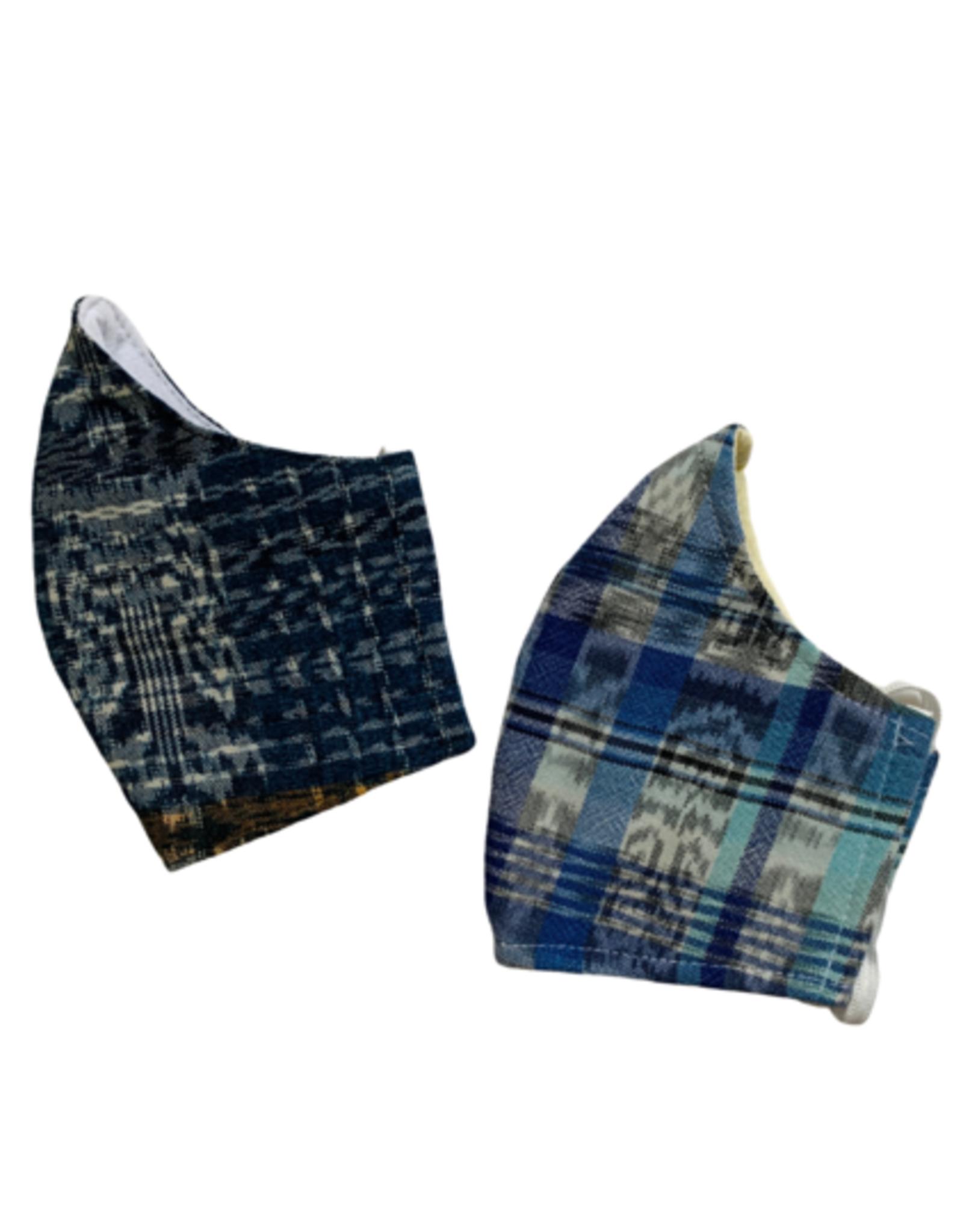 Corte Mask w/ Pocket, Adult, Blue Tones, Guatemala