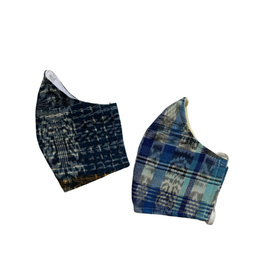 Corte Mask w/ Pocket, Adult, Blue Tones, Guatemala