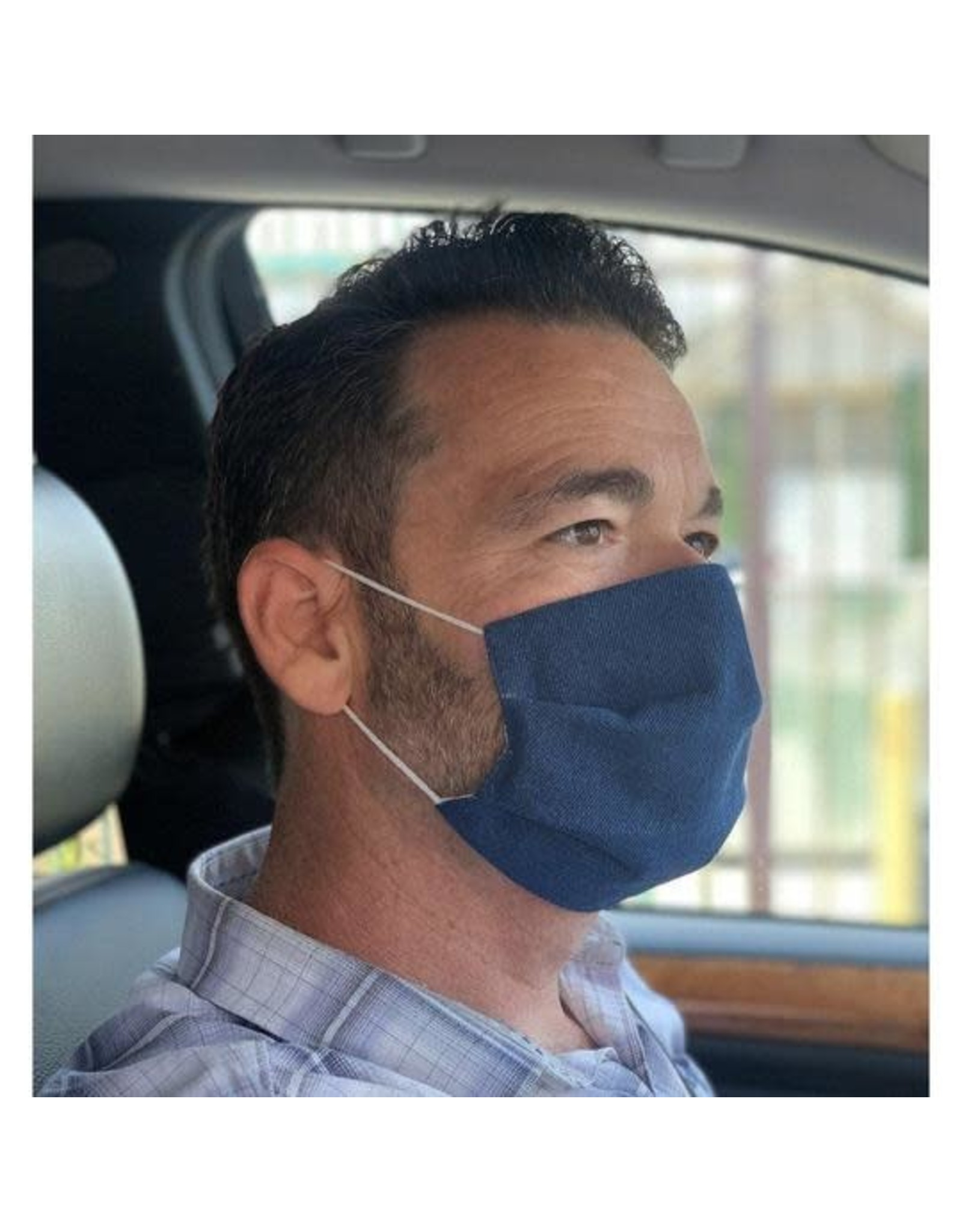 Denim, Adult Mask, Surgical Style