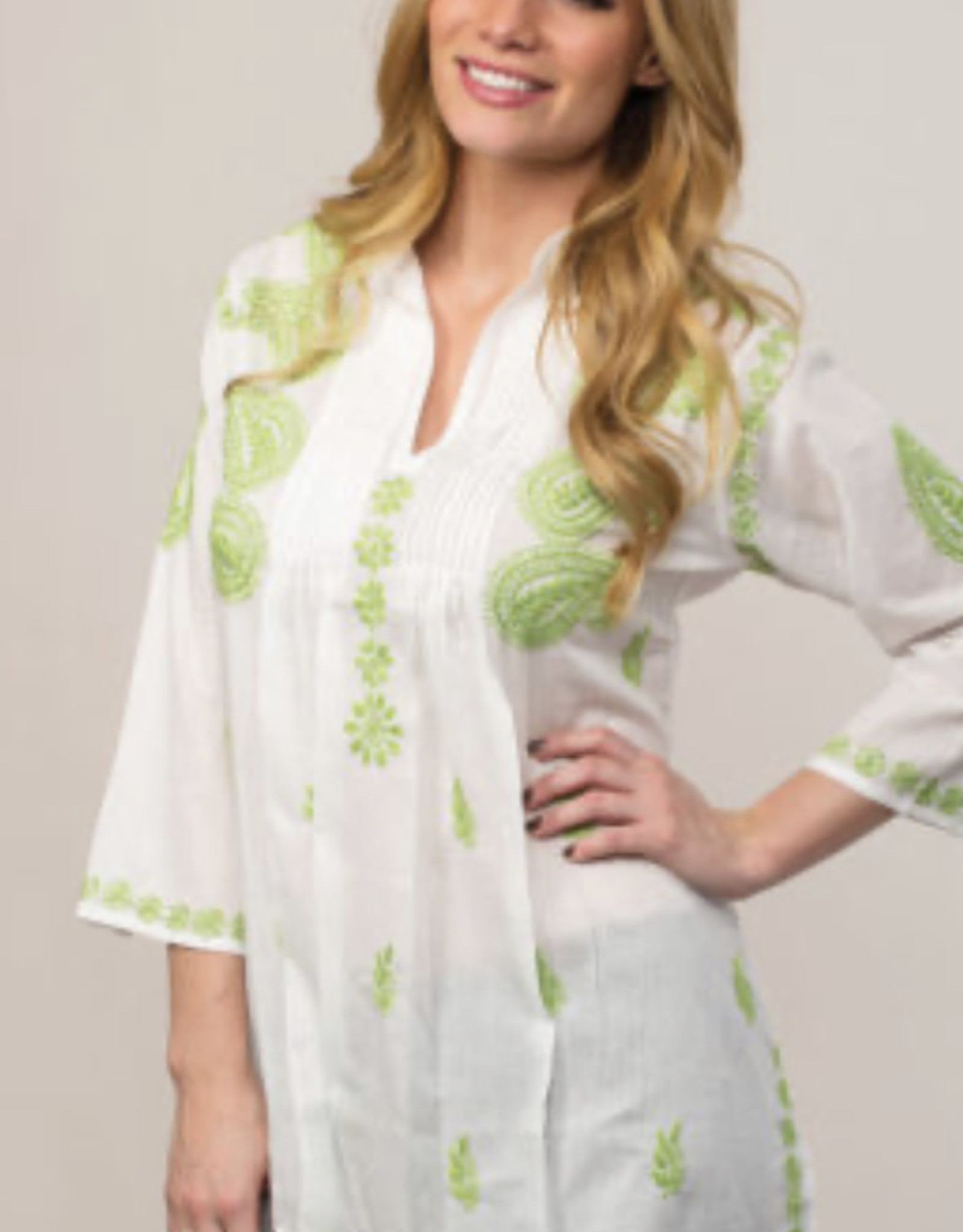 Lime Embroidered Tunic, SMALL, India