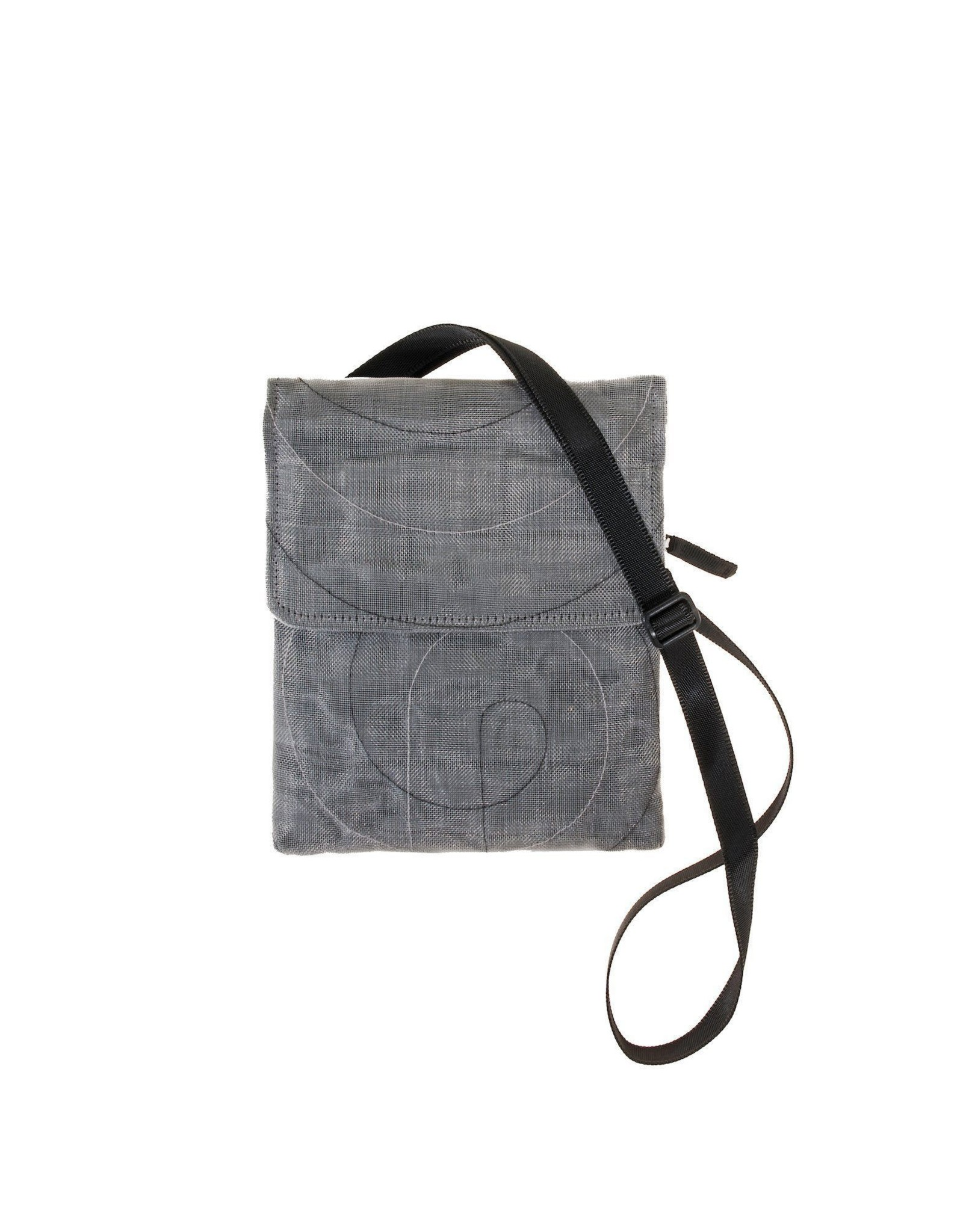 Fish Netting Hip Bag, Charcoal, Cambodia