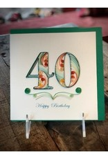 40th Birthday Quill