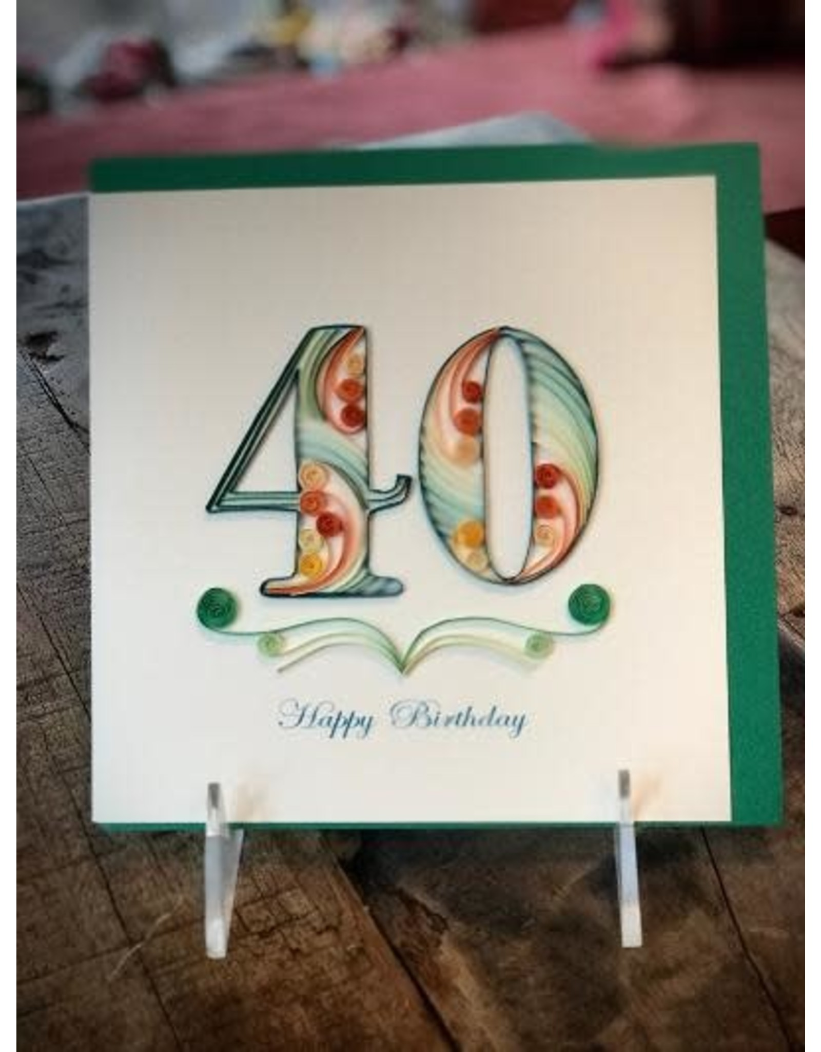 40th Birthday,  Quilling Card, Vietnam
