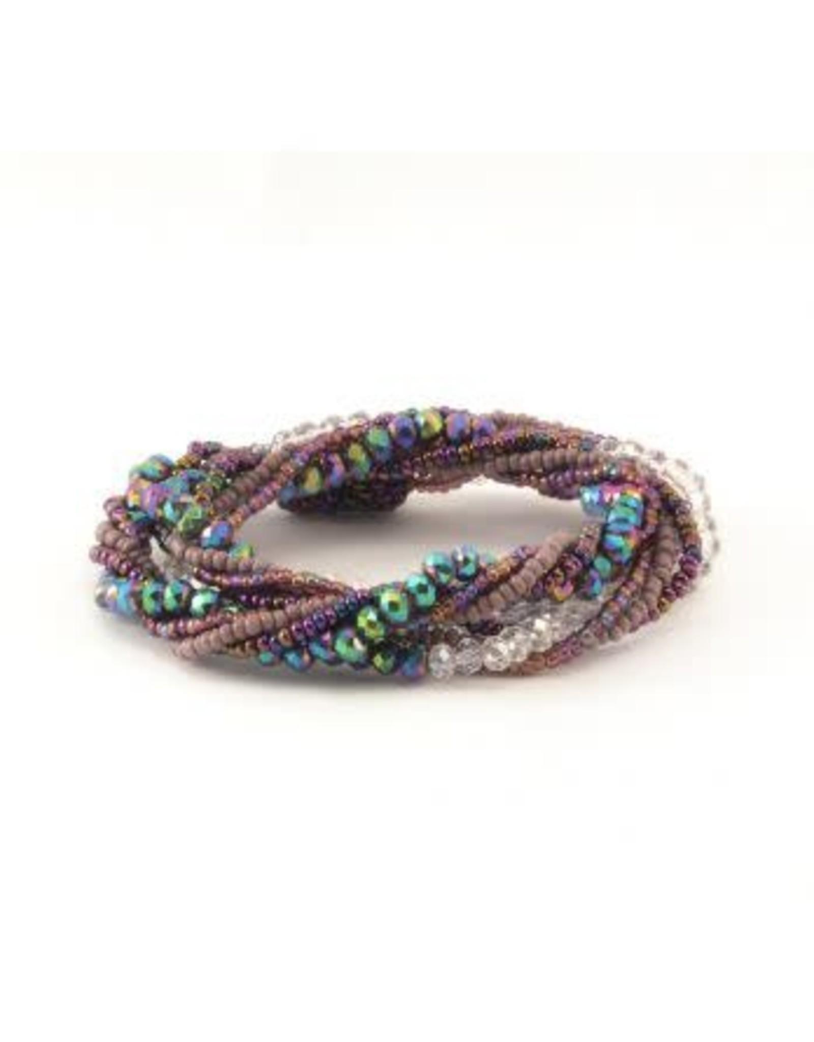 Magnetic Crystal Wrap Bracelet or Necklace, Guatemala