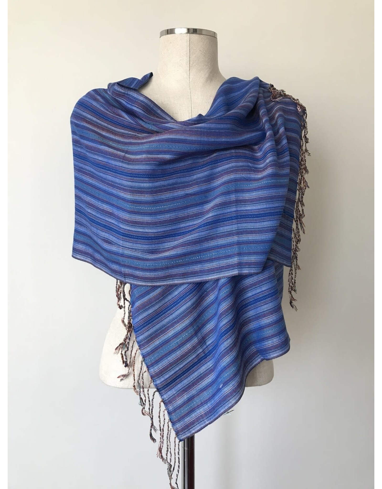 Egyptian Scarf Stripe Straight Blues