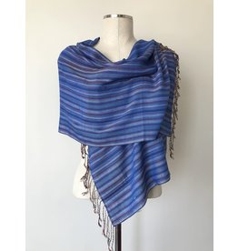 Egyptian Scarf Stripe Straight Blues