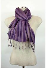 Egyptian Scarf Stripe Straight Purples