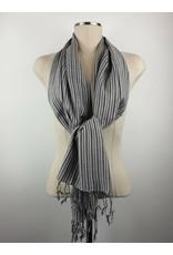 Egyptian Scarf Stripe Straight Grays