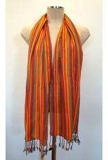 Egyptian Scarf Stripe Straight Oranges