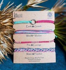 Bracelet Set of 4 Elements Carded, Guatemala