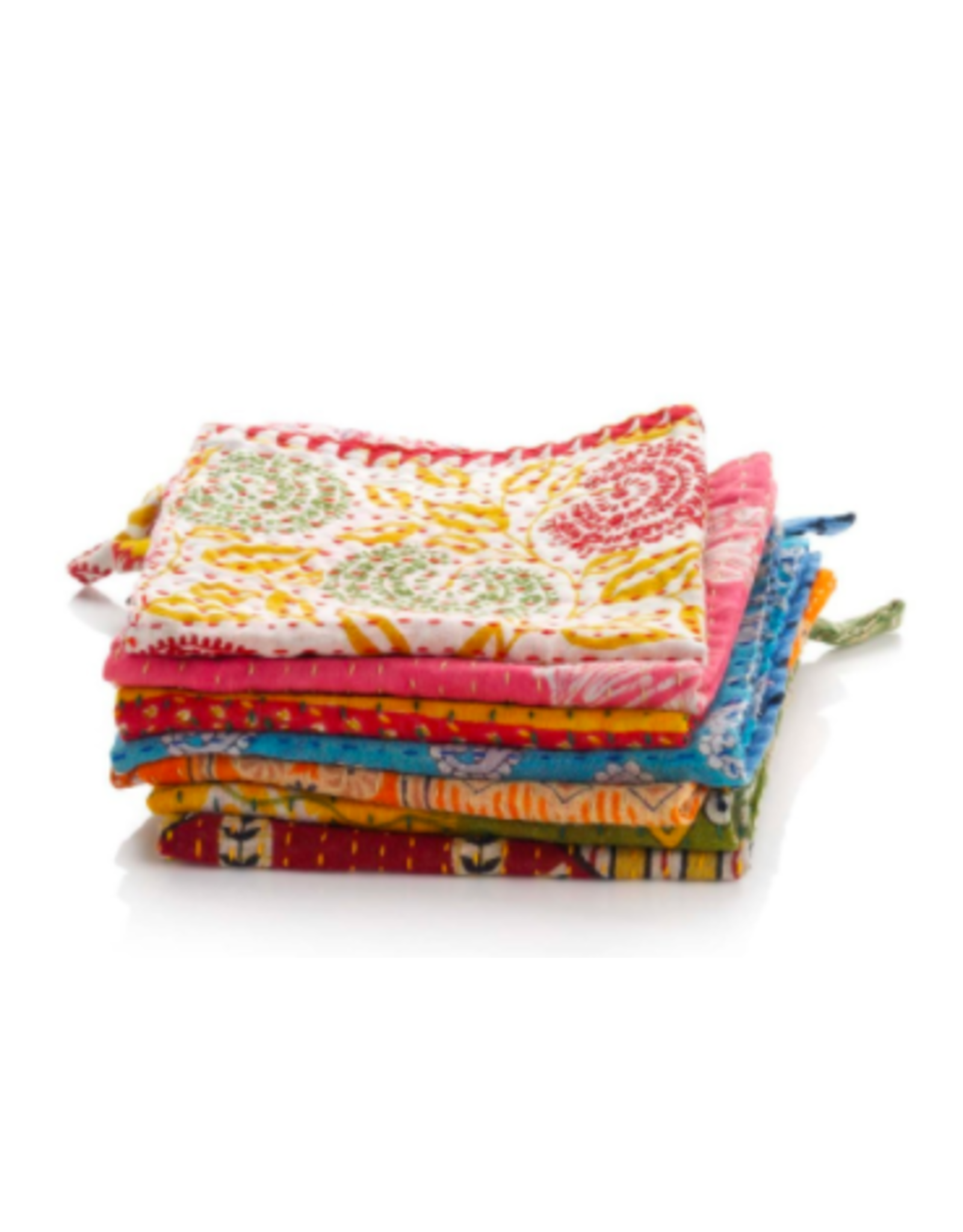 Kantha Dish Cloth, Set of 3, India