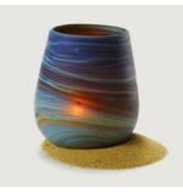 Hand Blown Glass Sand Candle Holder, West Bank