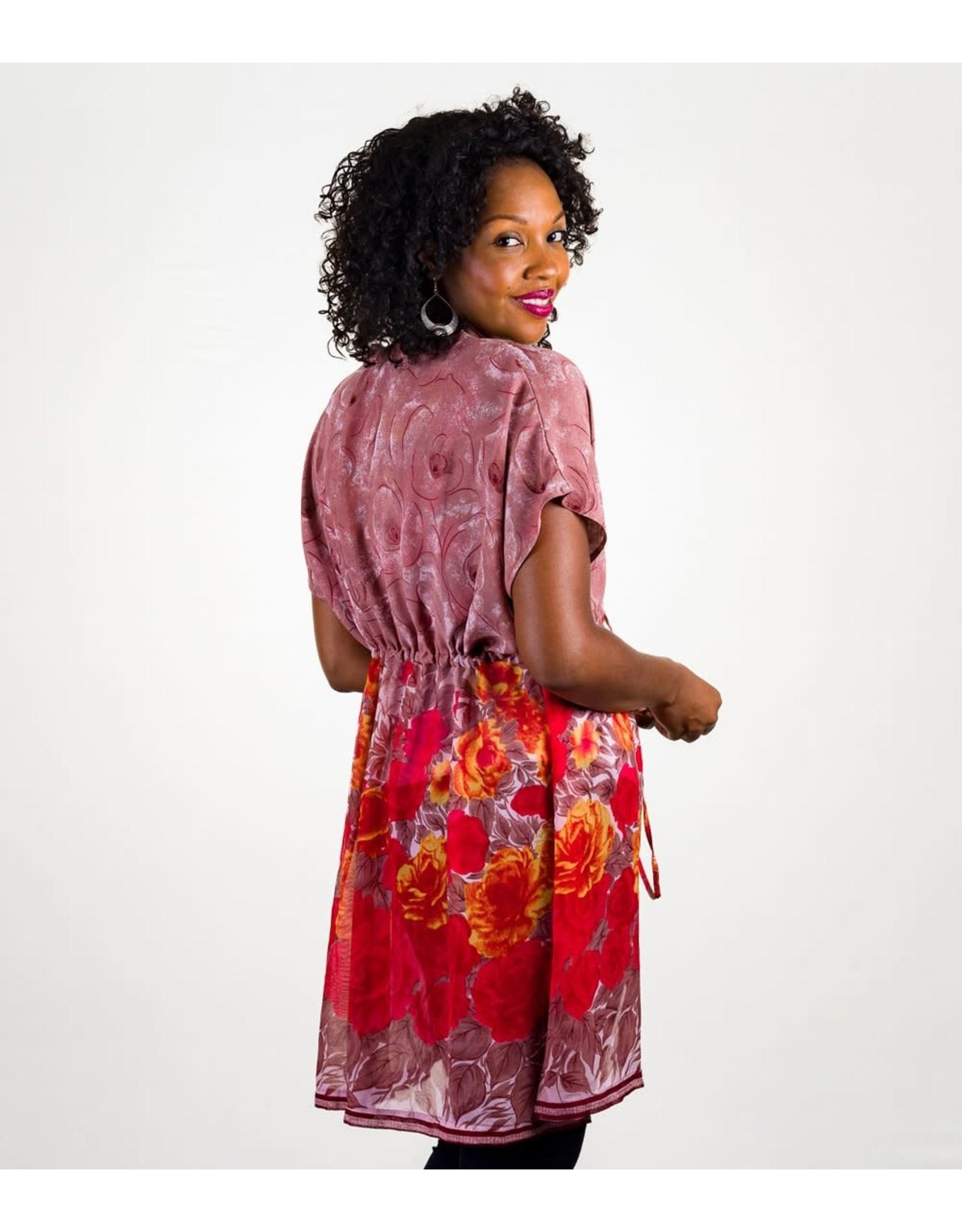 Longline Sari Kimono Top, India