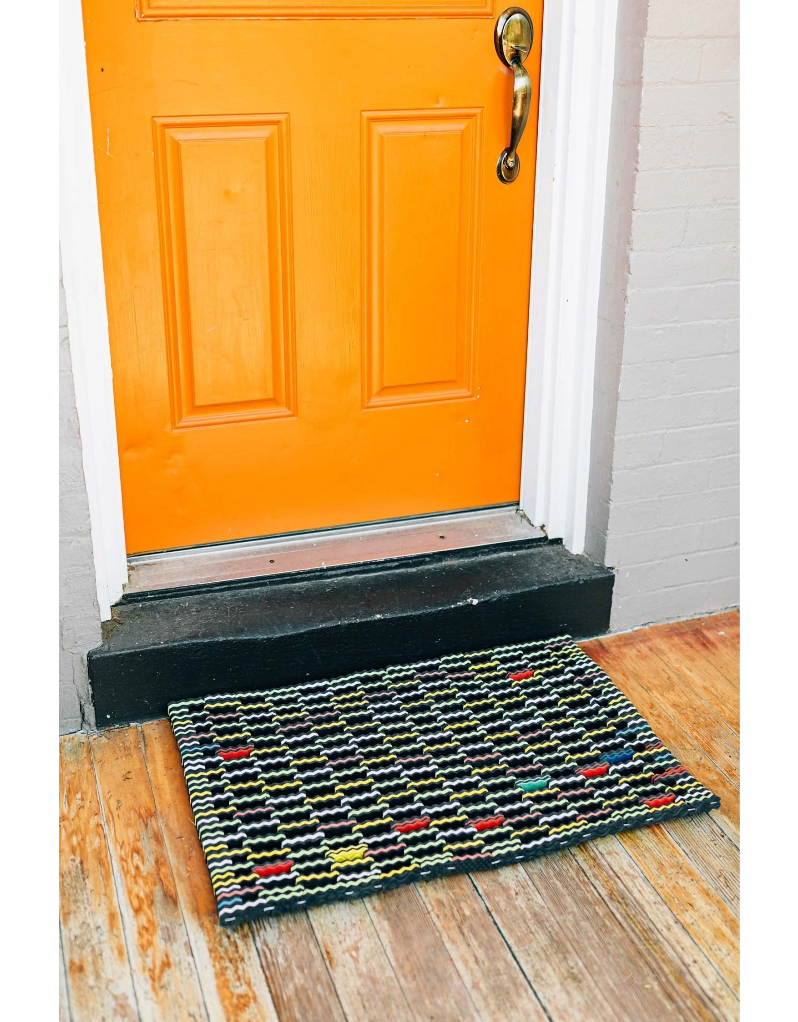 Upcycled Flip-Flop Mat