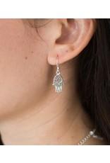 Shanasa Hamsa Sterling Silver Charm Earrings