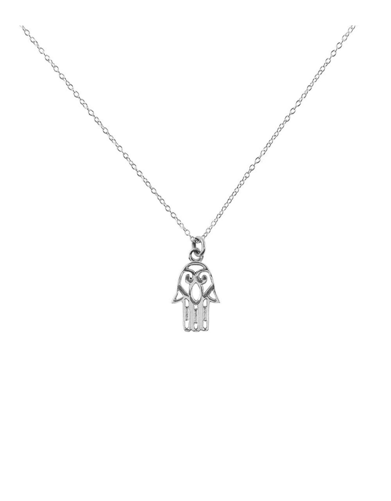 Sterling Silver Charm Hamsa Necklace