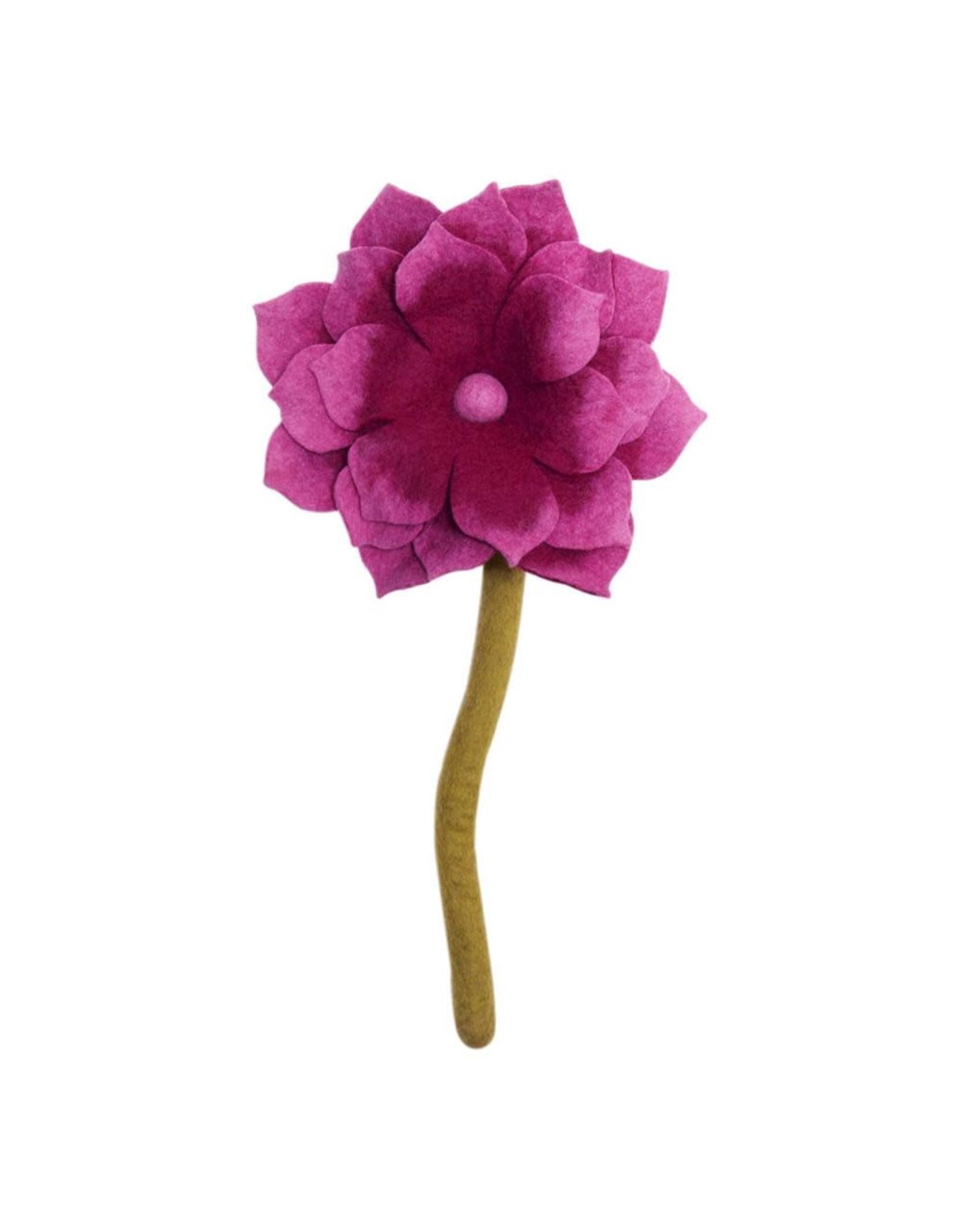 Nepal, Felt Lotus Flower Pink
