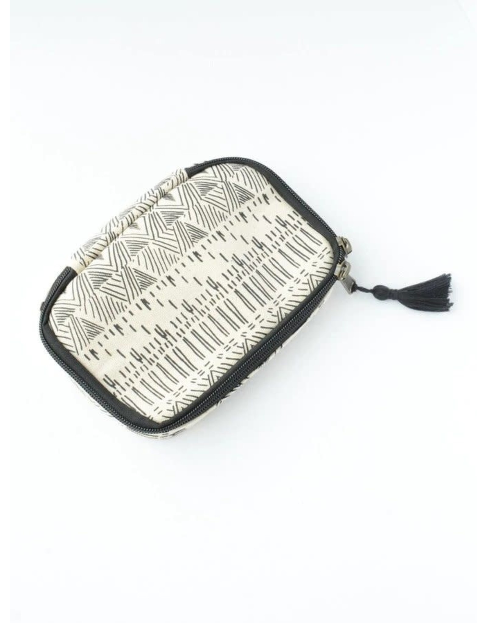 Utility or Cosmetic Pouch, White Diamond, Cambodia