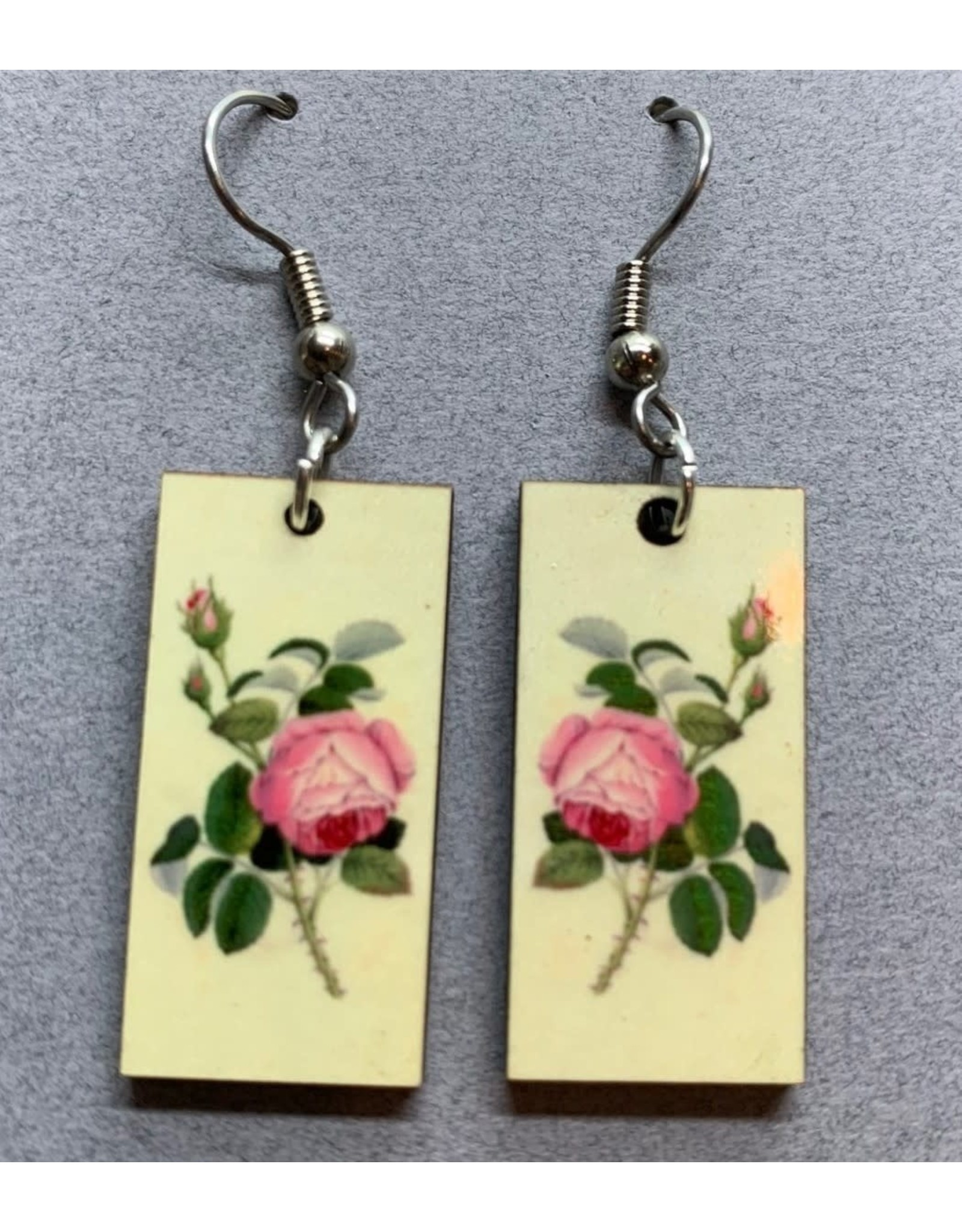 Botanical, Dangle, PINK ROSE