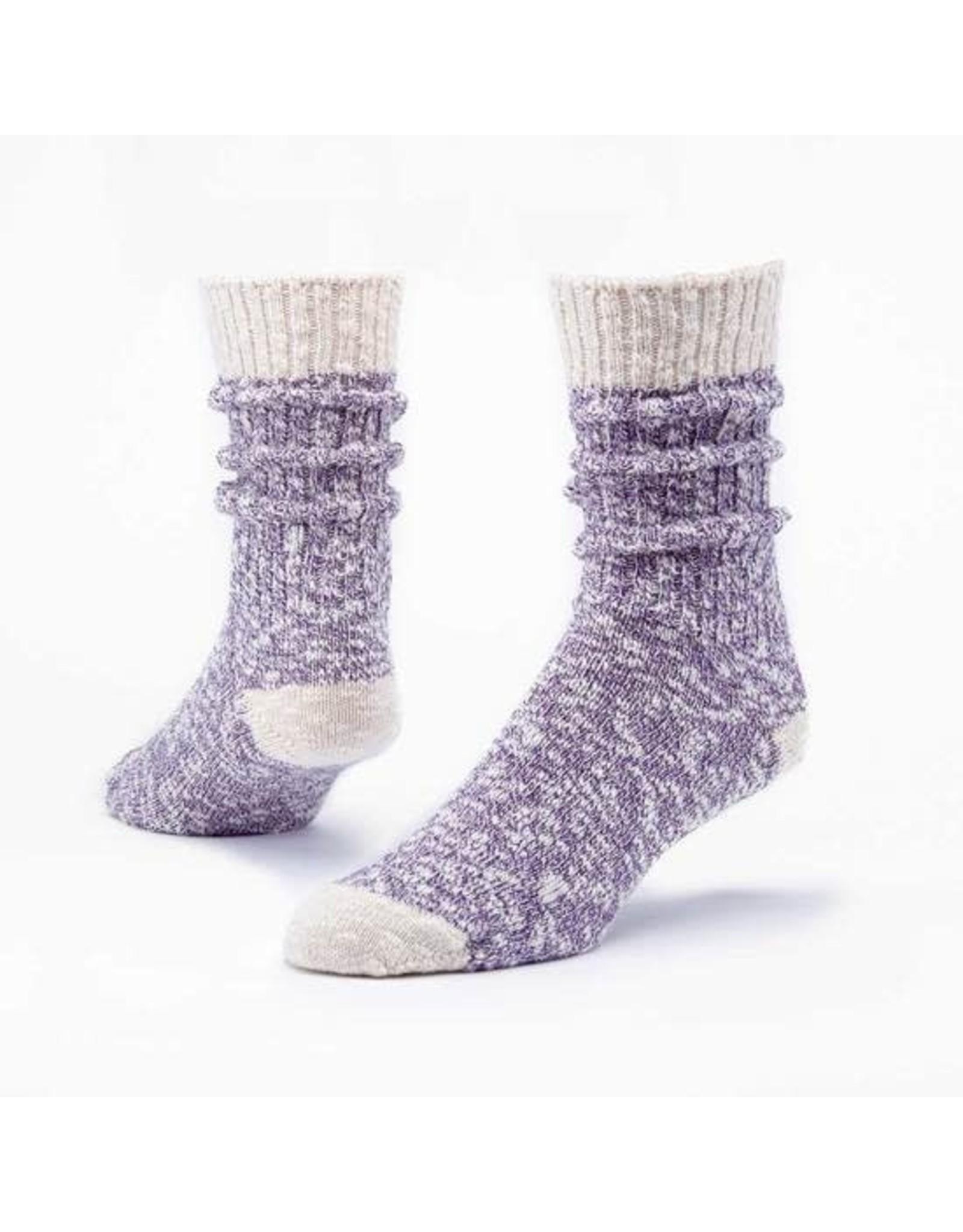 Organic Cotton Ragg Socks, Purple