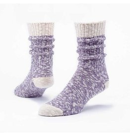 Organic Cotton Ragg Socks, Purple