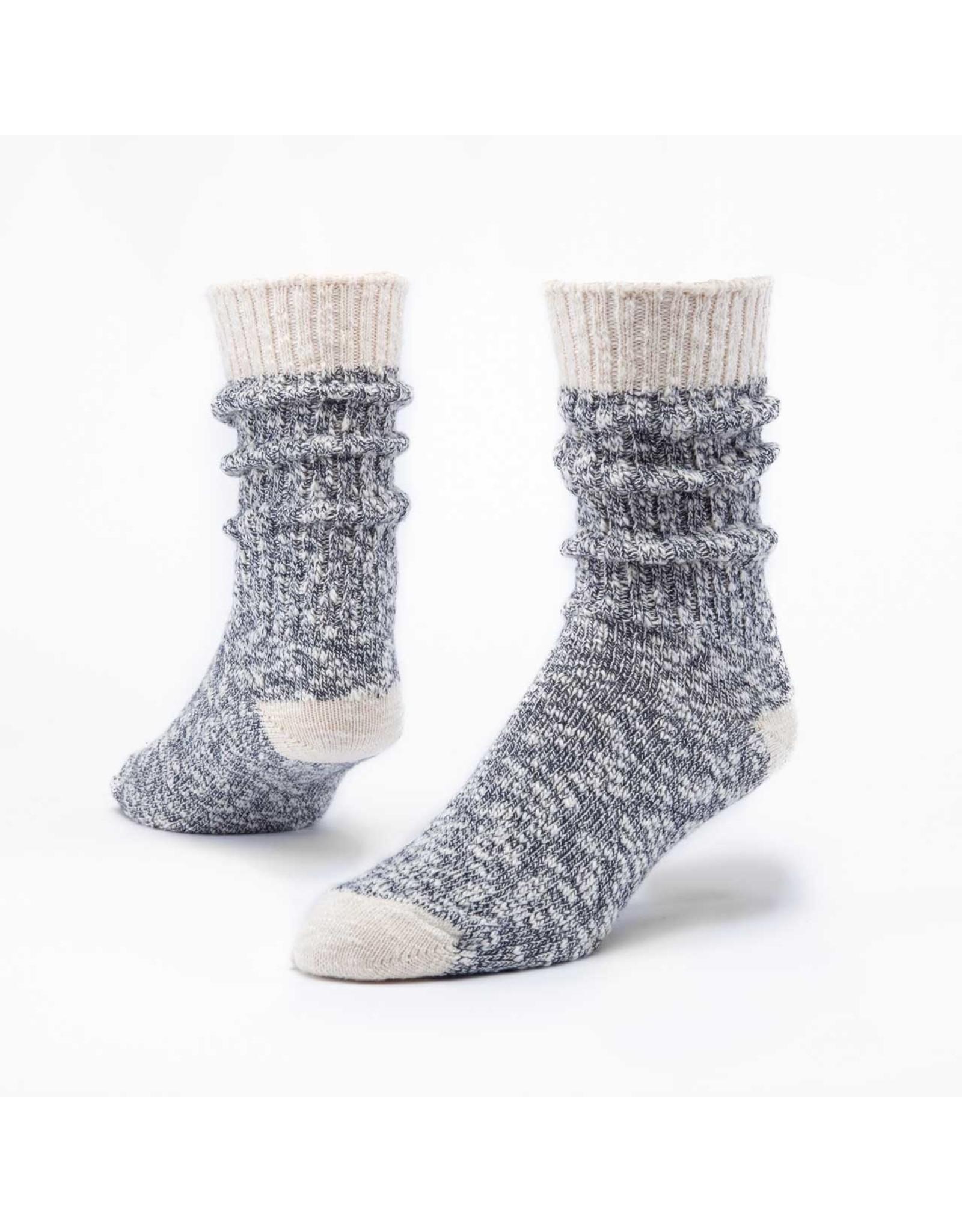 Organic Cotton Ragg Socks, Navy