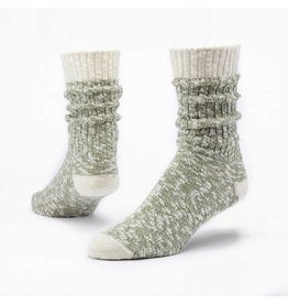 Cotton Ragg Socks, Olive