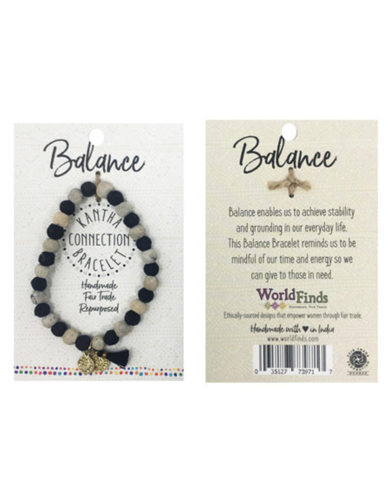 Kantha Connection Bracelet, Balance, India