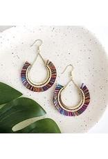 Contoured Fringe Earrings Multi